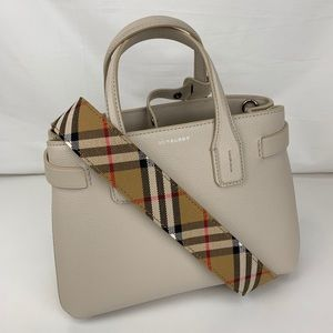 New Burberry Banner House Italian Leather Tote